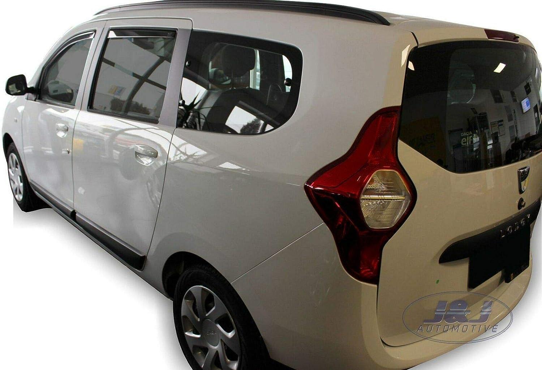4 unidades Deflectores de viento compatibles con Dacia Lodgy 5 puertas 2012 J/&J Automotive