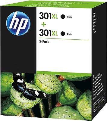 Cartucho de tinta Nº 301 XL negro HP D8J45AE, 2 unidades.: Hp ...