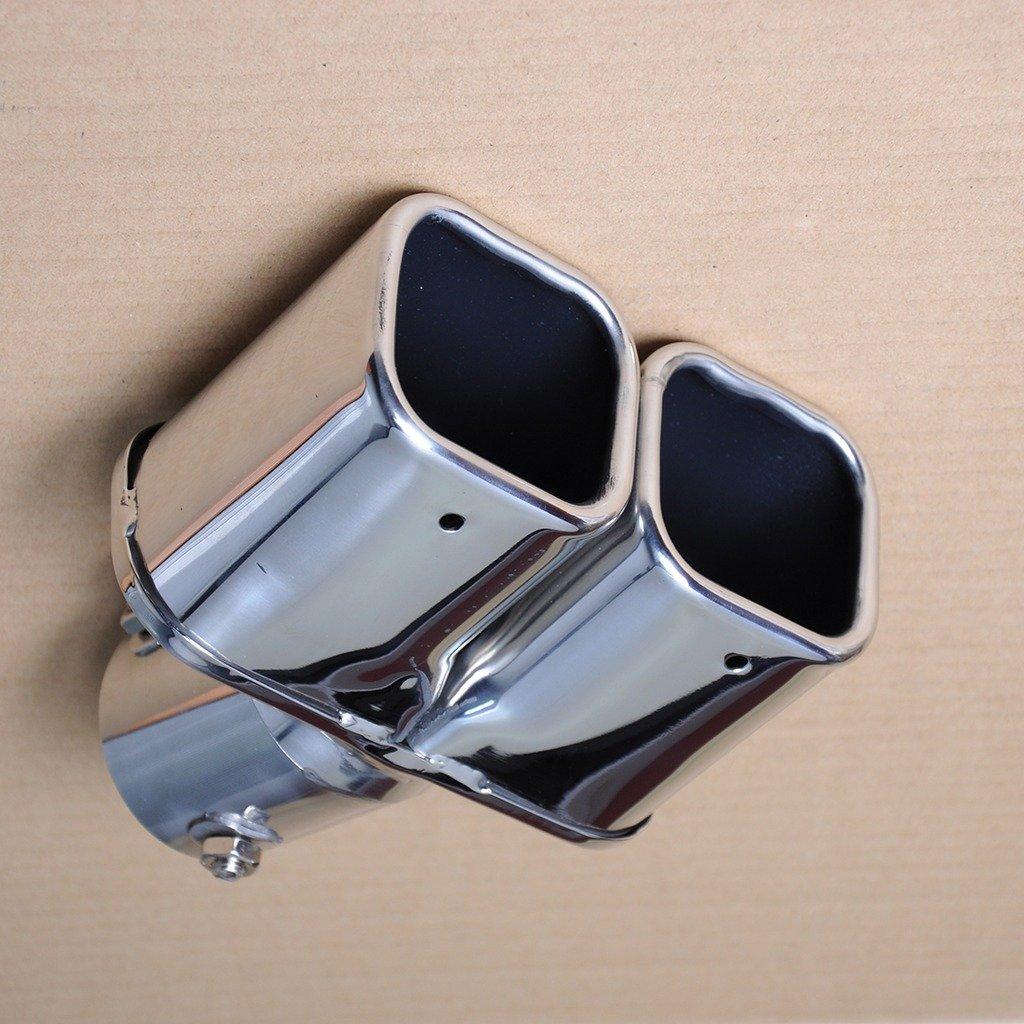 Liquor Car New Universal New 206 Stainless Steel Dual Exhaust Muffler Silencer Tail Tip Pipe 46-62mm Inside Diameter