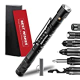 Tactical Multitool Pen (11 in 1) - LED Flashlight Cool Gadgets, Everyday Carry (EDC), Gifts for Men Dad - Gift Box