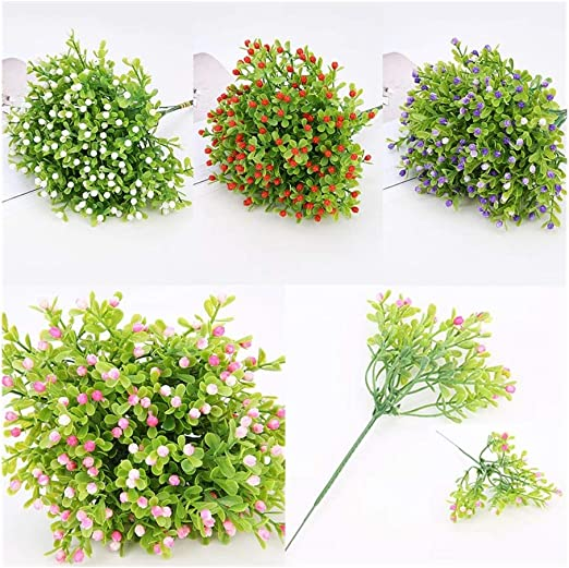 Pack 10 Artificial Milan Grain Flower Home Wedding Garden Floral Decor
