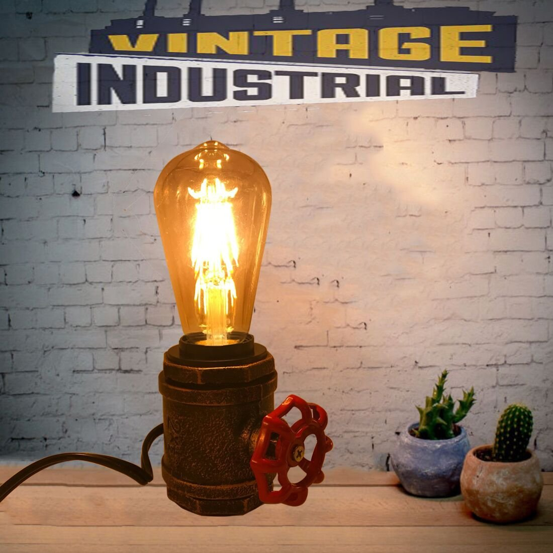 Gold DEC LUCE DECOLUCE LIGHTING Gold Industrial Vintage Small Table Desk Lamp Retro Loft Rustic Steampunk Iron Without Edison Bulb,Antique Desk Lamps Bedside Living Room Bedroom Home Decor