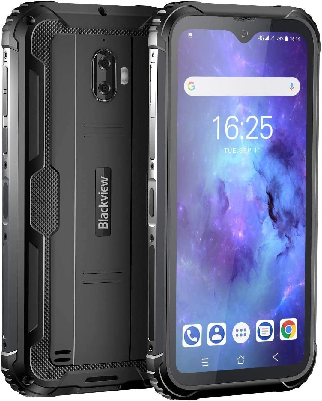 Movil Resistente, Blackview BV5900 Telefono Movil Antigolpes, 5.7 Pulgadas HD+ Display, 4G Android 9.0, Batería 5580mAh, 3GB RAM+32GB ROM, IP68 Impermeable Smartphone, Cámara 13MP+5MP, GPS/NFC-Negro