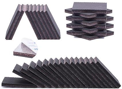 Non Slip Furniture Pads   28 PCS 2u0026quot; Furniture Grippers   Premium  SelfAdhesive Furniture Feet