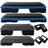 Aerobic Exercise Step Platform by Day 1 Fitness – 6 OPTIONS - 28in CIRCUIT SIZE STEP or 42in HEALTH CLUB SIZE with 2 or…