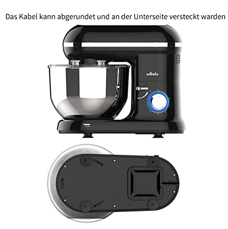 Amazon De Kuchenmaschine Knetmaschine Food Processor Wancle Stand