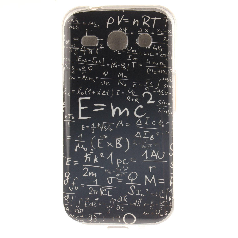 Hozor Samsung Galaxy Core Plus/SM-G350 cas, motif peint TPU Soft Silicone dos couverture Slim Fit antichoc résistant à la rayure téléphone de protection cas transparent bord