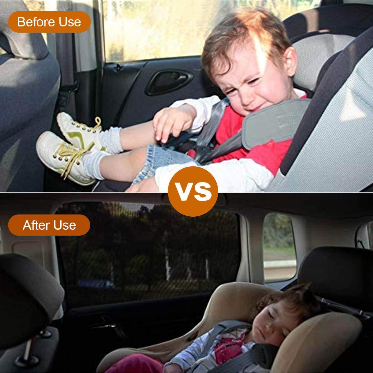L MONOJOY 2 xAuto Sonnenschutz f/ür Baby Auto Sonnenschutz f/ür SUV Heckscheibe UV-Schutz Auto Sonnenschutz Mesh Protector f/ür Kinder Haustiere Universal Atmungsaktives Mesh Auto Vorh/änge f/ür Autos