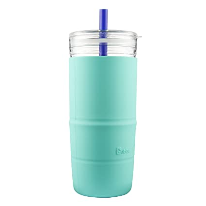 9a5f507a3fe Amazon.com | Bubba Capri Straw Tumbler with Silicone Sleeve, 32 oz, Island  Teal: Tumblers & Water Glasses