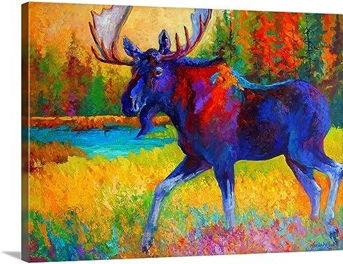 Majestic Moose Canvas Wall Art Print