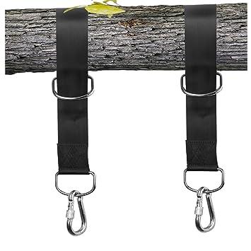 Hängematten Befestigung 1 Paar Schaukel Befestigung Swing Hanging Gurt DE