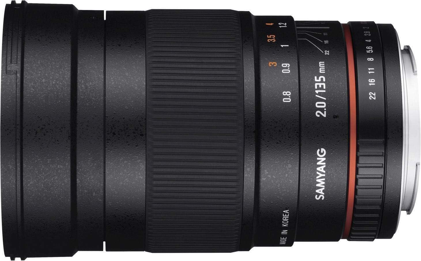 Samyang 135mm F2 0 Für Nikon F Vollformat Und Aps C Kamera