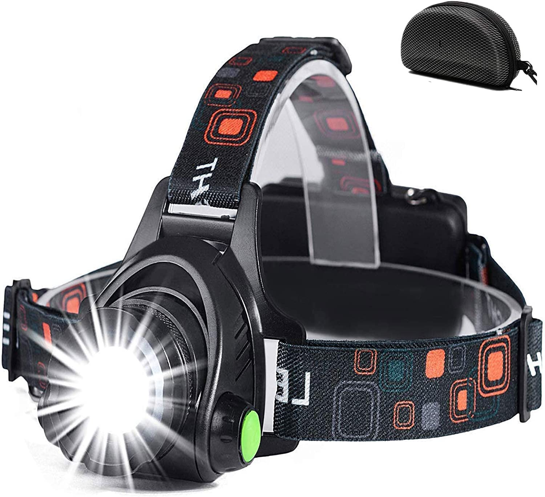 COB LED USB Stirnlampe 1200LM Wiederaufladbar Kopflampe Camping Headlamp 4 Modus