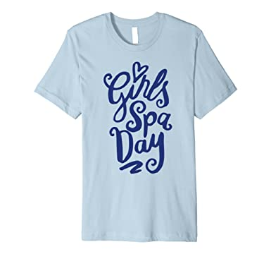 amazon com bachelorette party t shirt girls spa day t shirt clothing