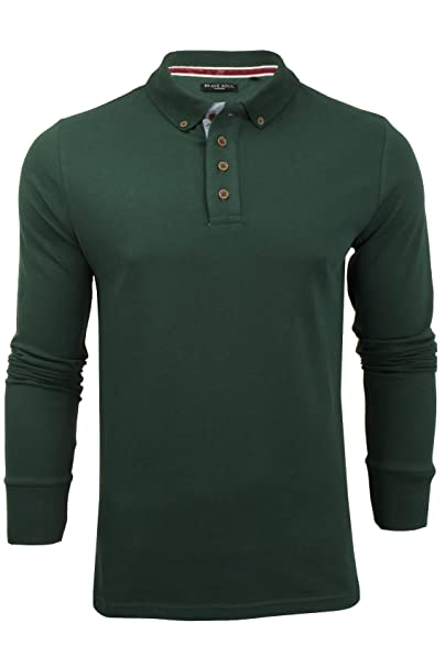 02dc65e42f7 Mens Brave Soul Herae Collared Polo Long Sleeved Top  Amazon.co.uk  Clothing