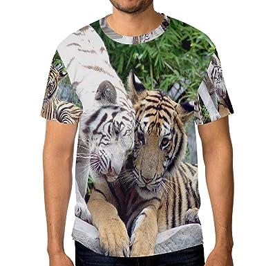 0bb9ad283 Tiger Pattern Print Men's Short Sleeve T-Shirt Top Tee | Amazon.com