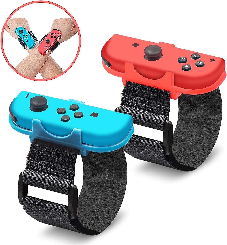 EEEKit Muñequera para Nintendo Switch Joy Cons Controller Game Just Dance 2019, correa elástica ajustable para Joy-Cons, 2 unidades (compatible con muñecas de 3.15 a 7.5 pulgadas): Amazon.es: Electrónica