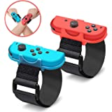 EEEKit Wrist Dance Band Compatible with Nintendo Switch Joy Cons Controller Game Just Dance 2020/2019, Adjustable Elastic Strap Compatible with Joy-Cons, 2 Pack (Fit for 3.15-7.5 inches Wrist)