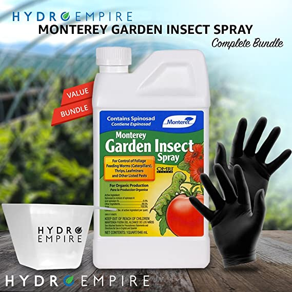 Amazon.com : Monterey Garden Insect Spray Quart (32oz) with Spinosad ...