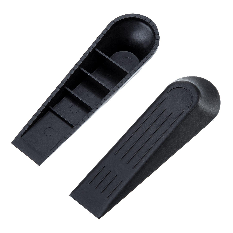Negro 6 Pack Topes de Puerta Cu/ña de Puerta Freno de Puerta