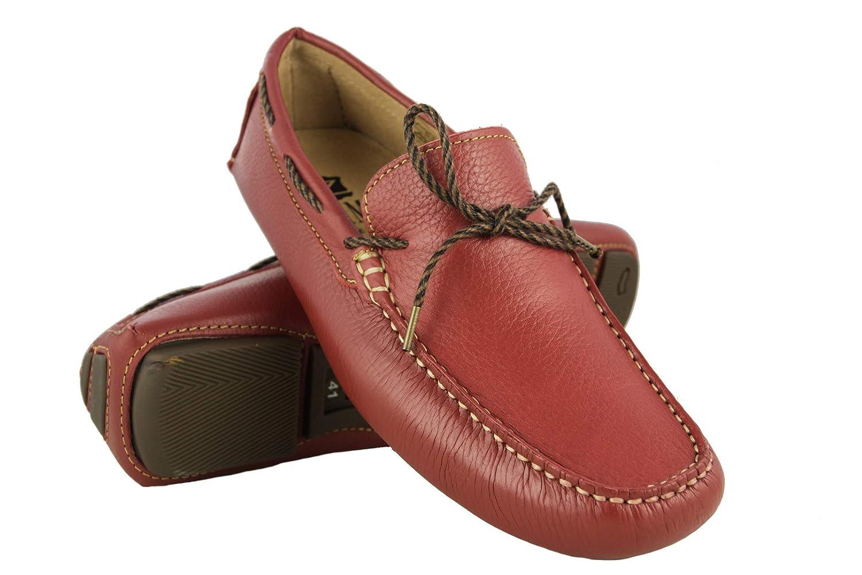 Zerimar Chaussures Bateau en Cuir Hommes | Chaussures Nautiques | Mocassins | Grandes Tailles 46-50