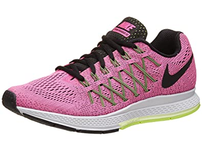 timeless design b7327 e9066 Image Unavailable. Image not available for. Color  Nike Women s Air Zoom  Pegasus 32 Pink Pow Barely Volt Ghost Green Black