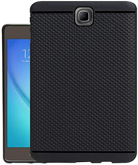 Eleqzun Soft Back Cover Case for Samsung Galaxy TAB A T355y 8.0   2015   Dotted Black