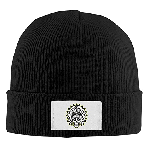 Amazon.com  ZGZGZ Beanie Hat for Men and Women Indian Skull Cute Winter  Warm Skull Cap  Clothing 67f5cba4256