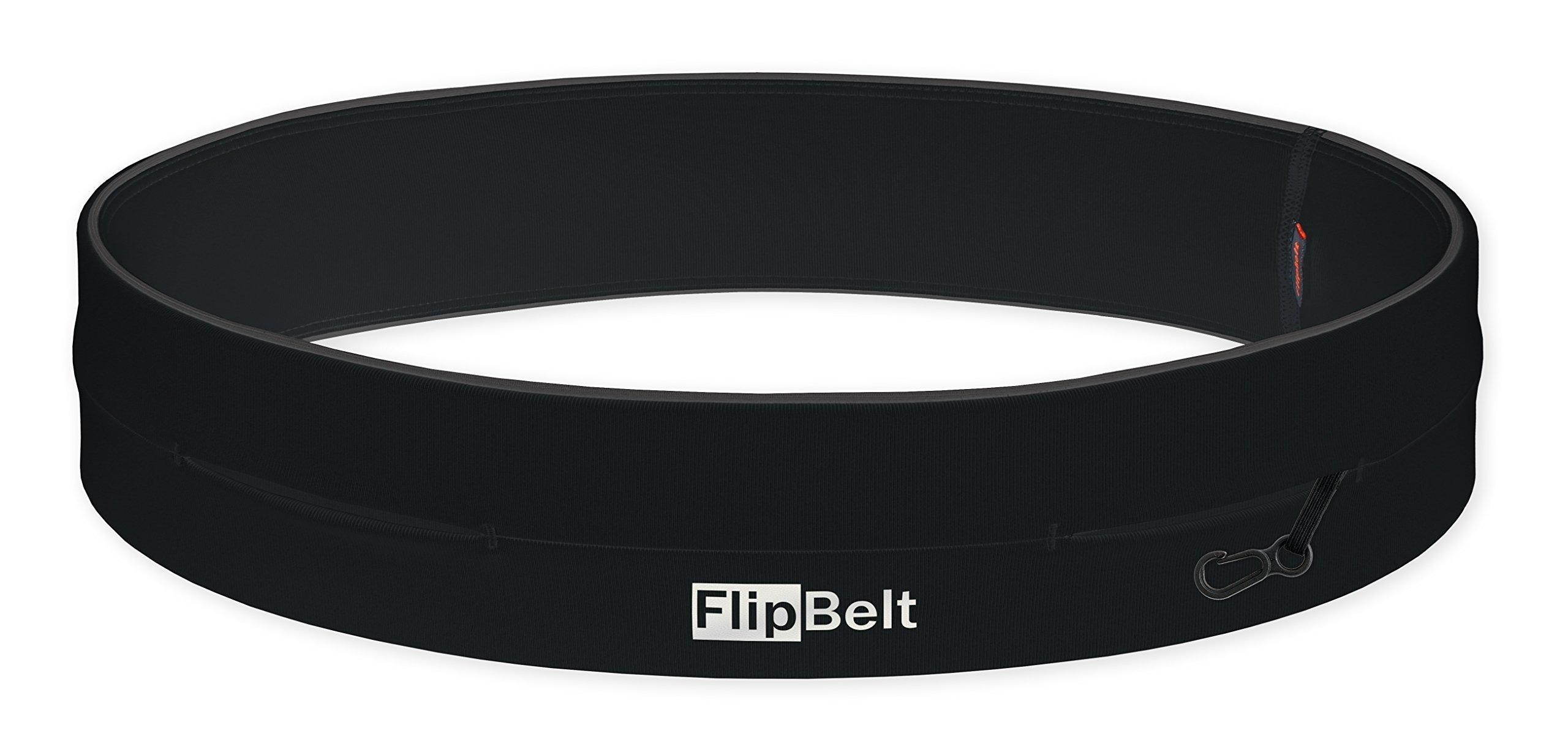 FlipBelt Level Terrain Zipper Edition 18''-21'' Waist Pack, Black, XX-Small by FlipBelt