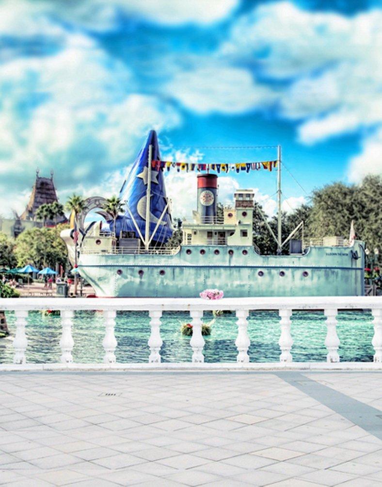 ブルースカイボート写真Backdrops写真小道具Studio背景5 x 7ft   B01HXEJA1K