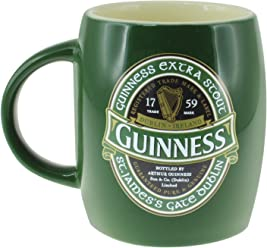 68248f96479 Green Ceramic Barrell Mug with St James Gate Label - Guinness Ireland  Collection