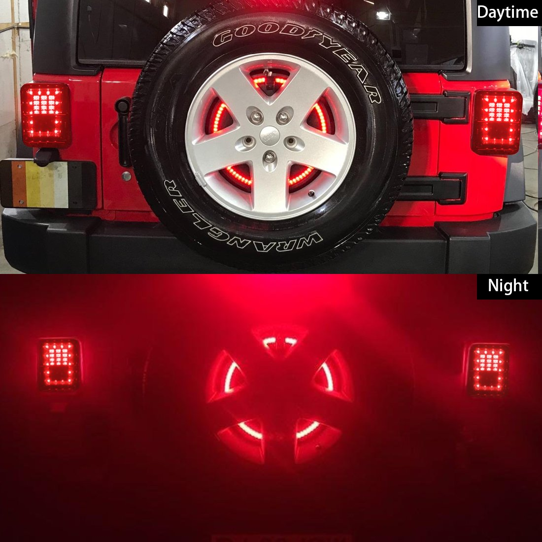 Spare Tire Brake Light Wheel 3rd Third Trailer Tail Wiring 2007 Jeep Color On 4 Wire Connector For Wrangler 2017 Jk Jku Yj Tjred Automotive