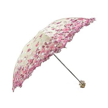 Nueva llegada Mini Paraguas Anti- UV Paraguas Plegable y Compacto Ultra- Ligero sombrilla para
