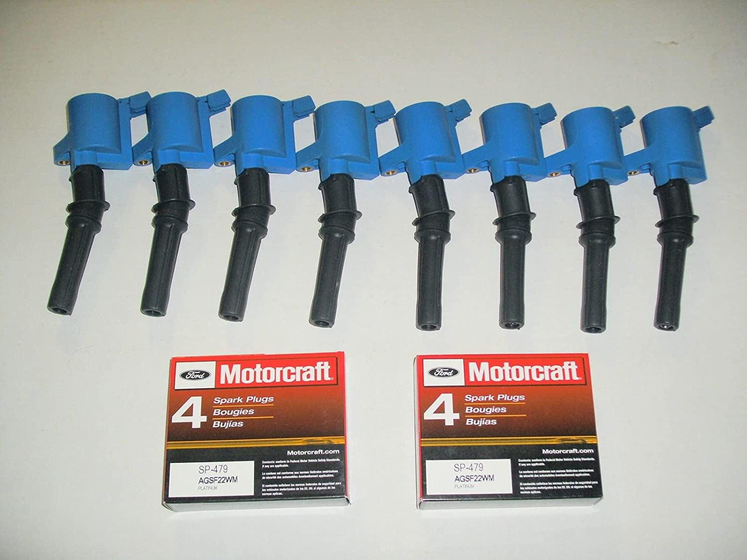 Amazon.com: TPP Set of 8 High Performance Ignition Coil Dg-508 Blue + 8 Motorcraft Spark Plug Sp-479: Automotive