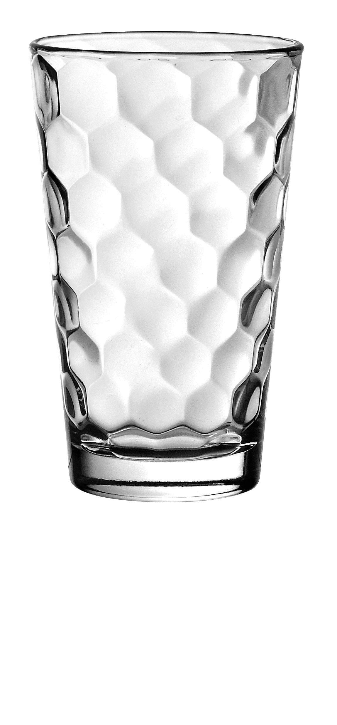 Barski - European Glass - Hiball Tumbler - Artistically Designed - 13.5 oz. - Set of 6 Highball Glasses - Made in Europe