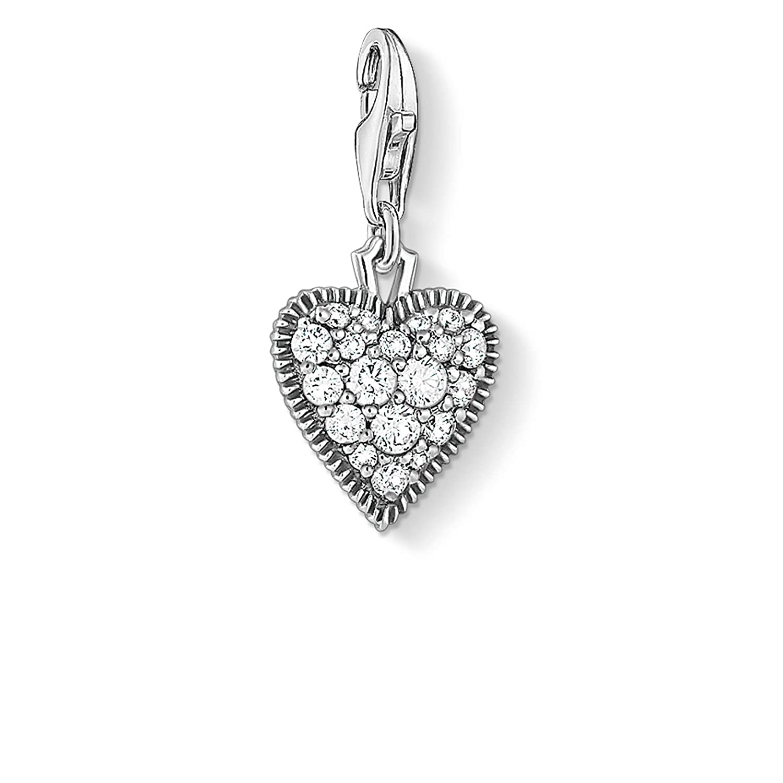 Thomas Sabo ladies-Charm pendant Vintage heart 925 Sterling silver blackened 1747-643-14