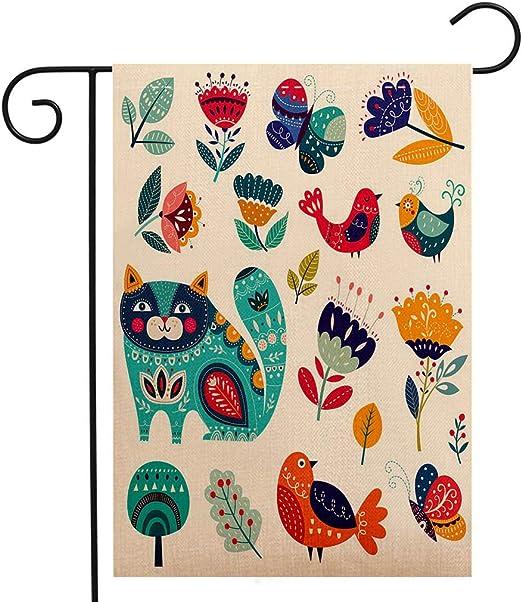 BEIVIVI Bandera Creativa, hogar, jardín, con Dibujos Animados y diseño de garabatos bajo el Agua, sin Costuras, Impermeable, para Fiestas, Vacaciones, decoración del hogar y jardín: Amazon.es: Jardín