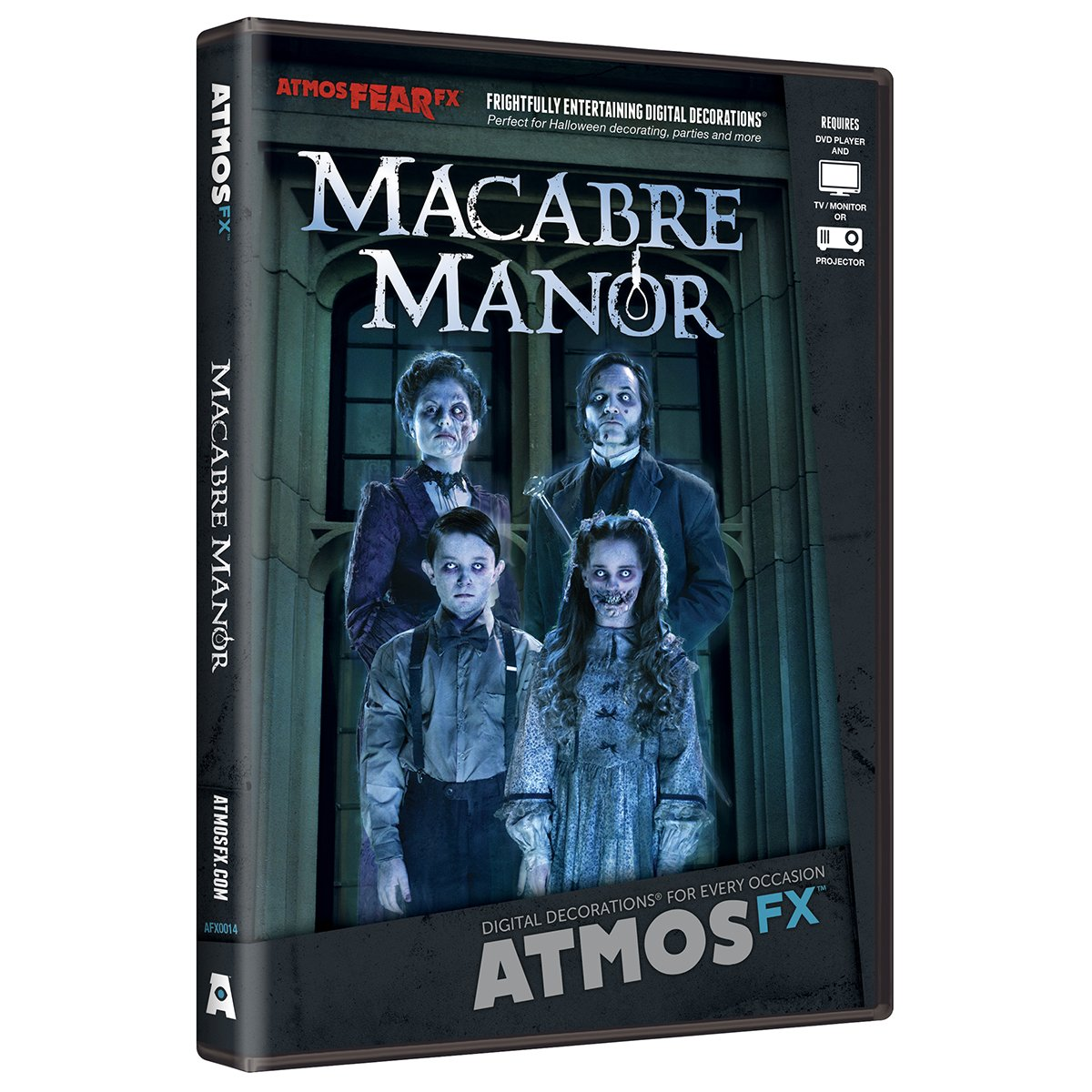 AtmosFX Macabre Manor Digital Decorations DVD for Halloween Holiday Projection Decorating by AtmosFX