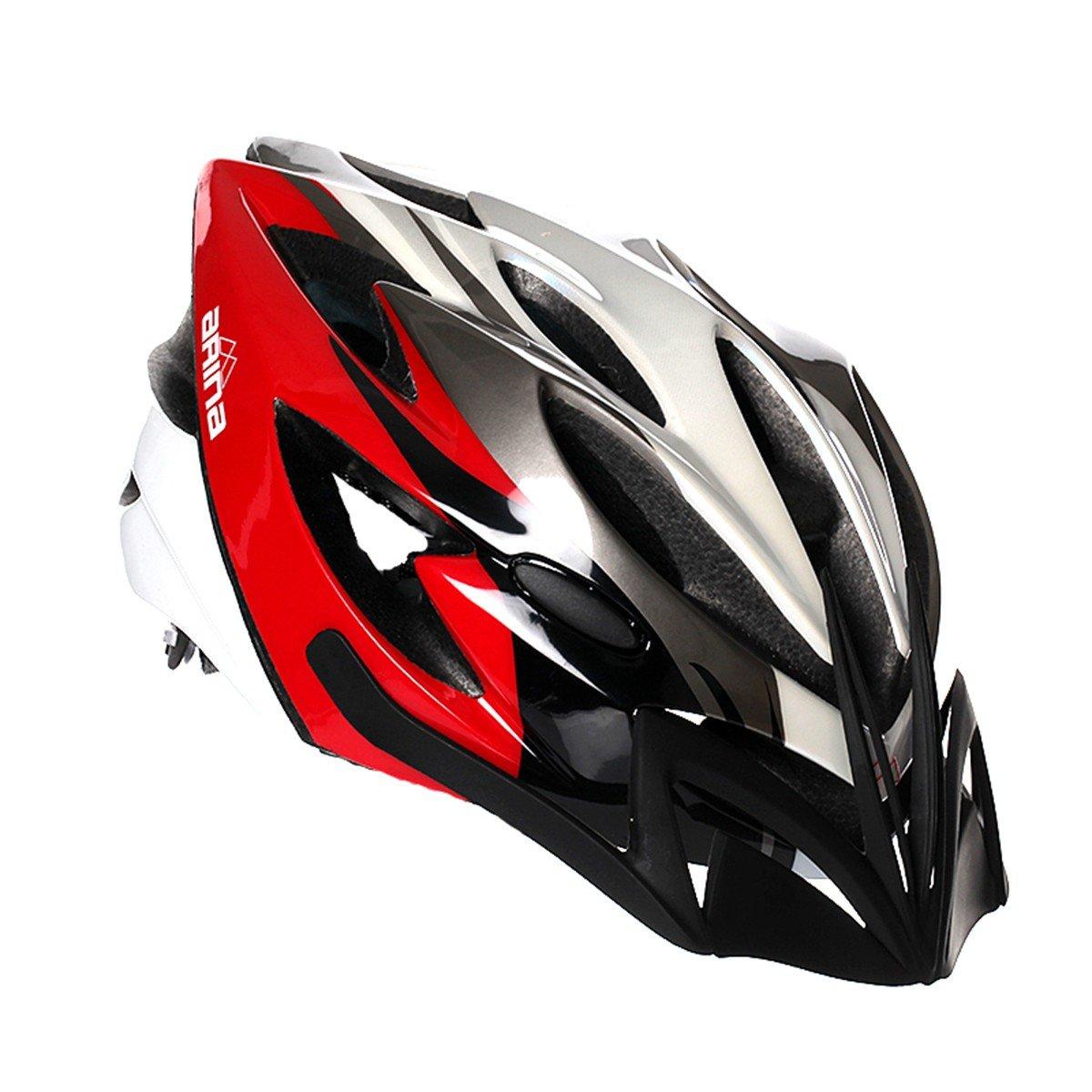 Arina Fahrradhelm Spirit schwarz weiß rot