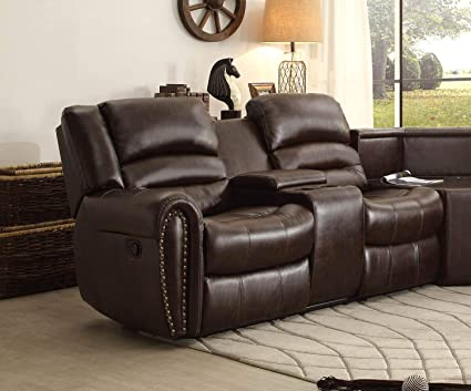 Stupendous Amazon Com Benzara Bm181721 Leather Reclining Loveseat With Andrewgaddart Wooden Chair Designs For Living Room Andrewgaddartcom
