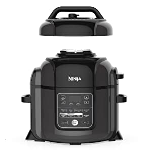 Ninja OP401 Foodi XL TenderCrisp Pressure Multi Cooker 8 quart Black/Gray (Renewed)