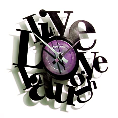 DiscOClock Reloj en Vinilo Live, Love, ...