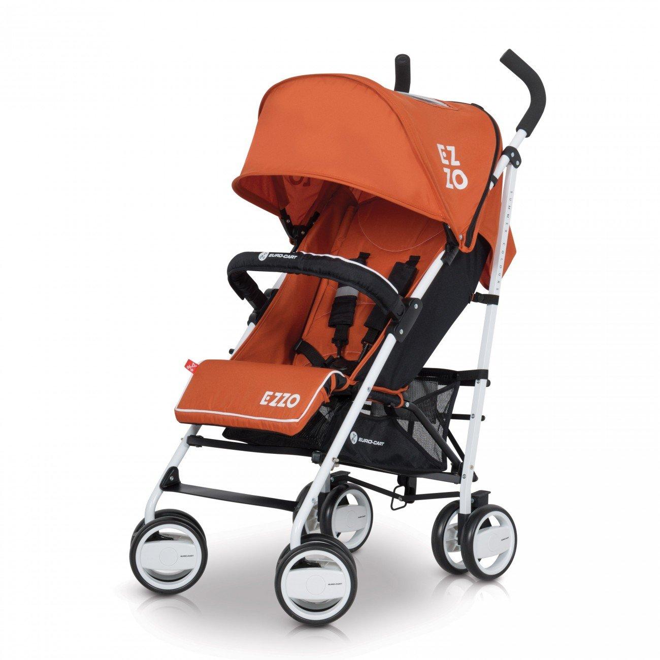 Baby Stroller Pram EZZO High Class Aluminium Pushchair - foldable, Colour Scarlet LCP Kids