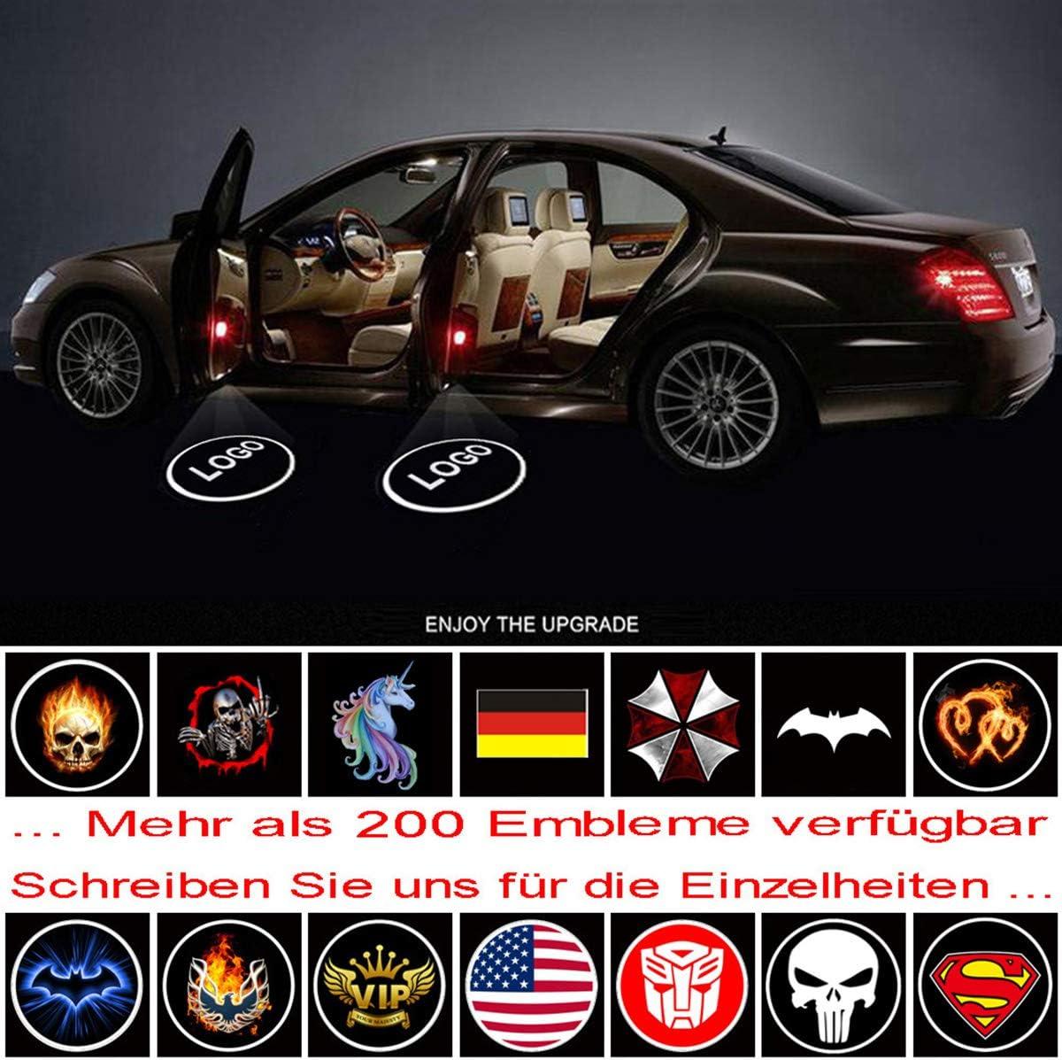 car LED bienvenue Logo voiture fant/ôme ombre bienvenue lumi/ère VAWAR lumi/ères de porte Punisher universel pour v/éhicule de 12V // No.142 LED projecteur de voiture /éclairage dentr/ée