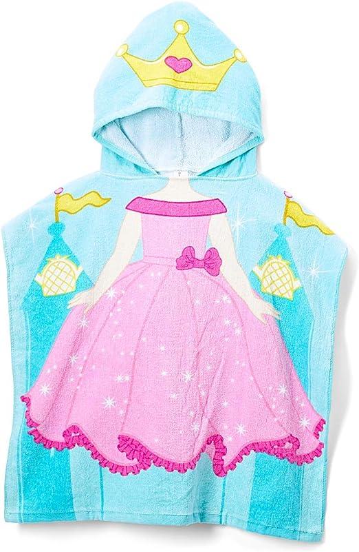 Disney Princess Hooded Beach Towel Bath Swimming Poncho Kids Girls One Size