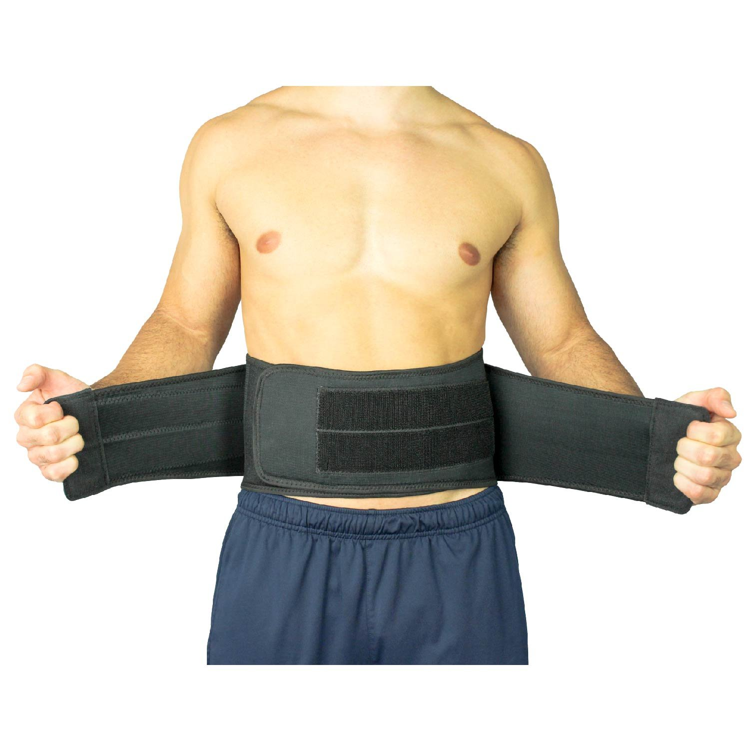 Back Brace by Vive - Lower Support for Chronic Pain, Sciatica, Spasms, Nerve and Herniated or Slipped Disc - Adjustable Lumbar Wrap for Pain Management and Relief