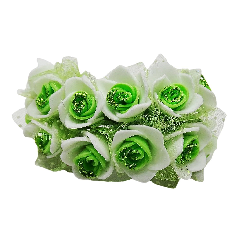 Al Por Mayor 6 Pcs Jefes De Las Hecha A Mano Artificial Rose De La Espuma De Flores Para La Decoración De La Boda De Dama De Mano Flores: Amazon.es: Hogar