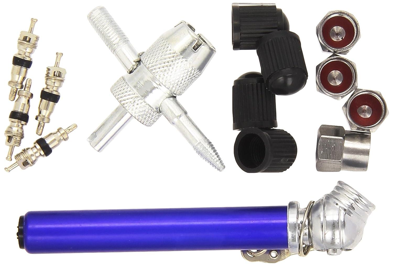 Silverline 380568 - Juego para reparación de válvulas de neumáticos 14 pzas 0,6-3,5 Bar