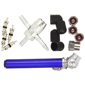 Silverline 380568 Tyre Valve Repair Kit, 14-Piece 10 - 50 psi