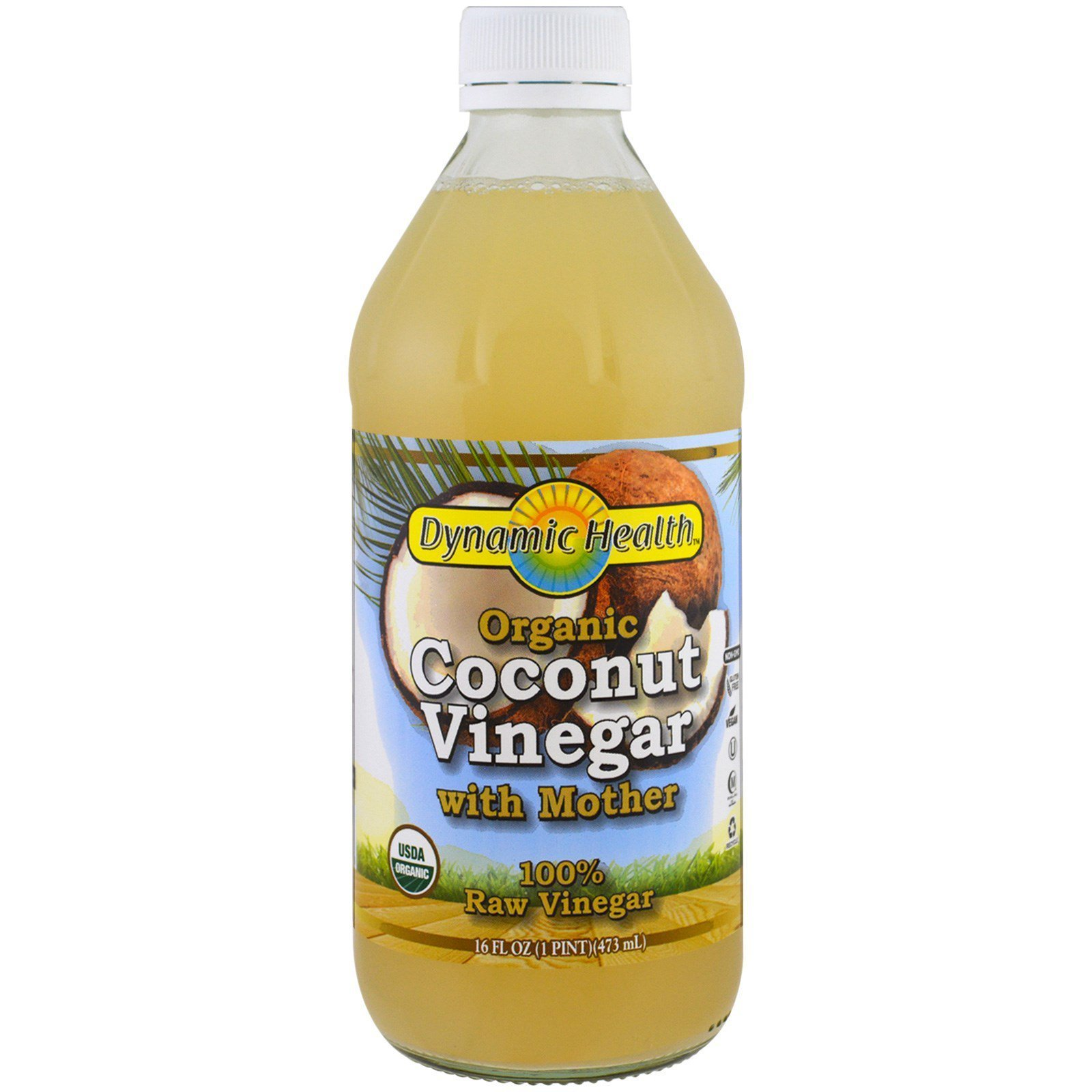 Organic Coconut Vinegar with Mother 16 fl Ounce (473 ml) Liquid